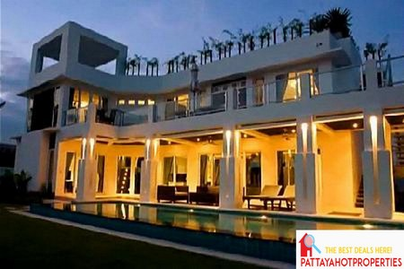 luxury pool villa in pattaya for sale